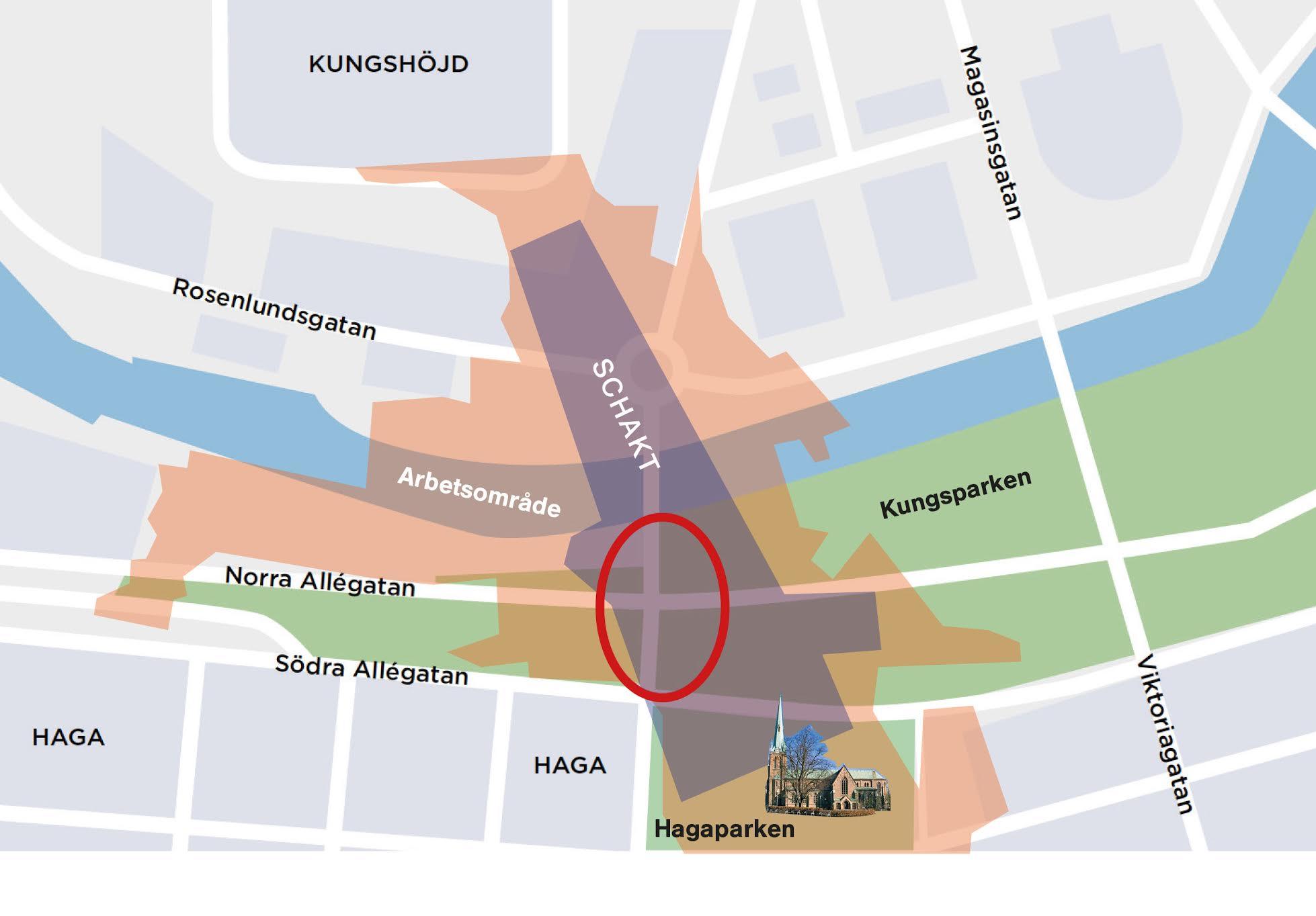 Bild 2 -  trädpåverkan Haga Station