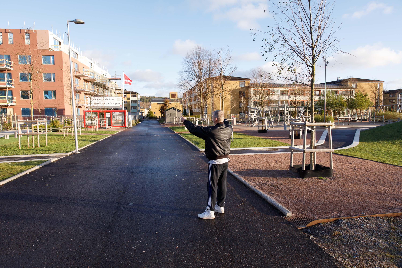 Skövlad lindallé i Flatås